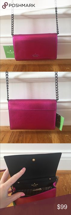 ❗️SALE❗️$158 Kate Spade Crossbody New with tags $158 Kate Spade Crossbody in cami Cameron street metallic in bajarose // brand new, perfect condition, never worn before kate spade Bags Crossbody Bags