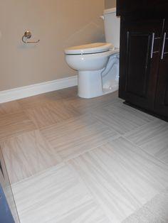 Vencil Homes - Bathroom #2 - Adura Luxury Vinyl Tile in the basement bath  #LVT