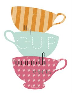 Cute and different free printables - love the tea cups for part of a blog design, maybe in mini size?