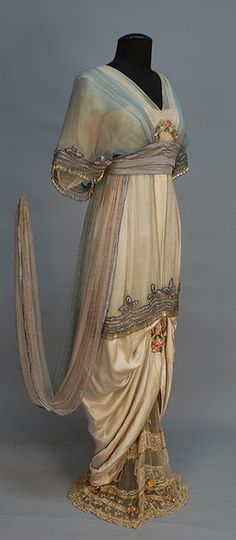 C.1914 evening dress by Lucile (Lady Duff Gordon, of Titanic fame). One of my fave designers of the era.