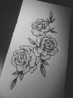 55 Simple Small Flowers Tattoos Drawing Tattoos Ideas For Women This Season Beautiful Flower Tattoo Drawing Ideas for Women Body Art Tattoos, New Tattoos, Sleeve Tattoos, Cool Tattoos, Tattoo Hip, Tatoos, Tattoo Music, Rose Hip Tattoos, 3 Roses Tattoo