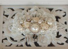 Bridal Hair Accessory Rhinestone and Pearl  Wedding Hair Comb Bridal hairpiece