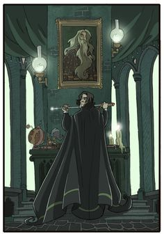Snape and Dumbledore -HP7- by kyla79 on deviantART Snape the badass