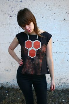abstract geometric statement necklace