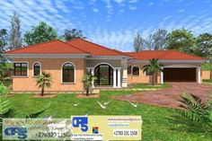 ZZZZ FREE VIEW IMPRESSIONS mixed Bedroom House Plans, House Floor Plans, Single Storey House Plans, Garage Plans, Home Collections, Farmhouse, House Design, How To Plan, Mansions