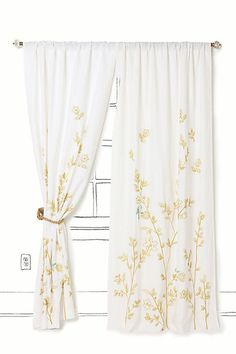 These curtains will go perfect in the bedroom leading out to the patio. So cute! Daily #anthropologie posting.