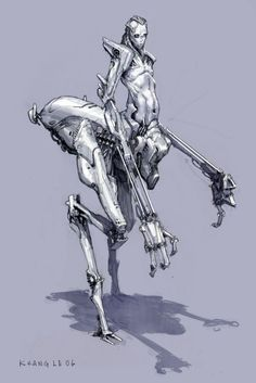 scifi-fantasy-horror: by Khang le - The Things We Love Character Concept, Character Art, Concept Art, Monster Design, Robot Design, Fantasy Creatures, Mythical Creatures, Arte Cyberpunk, Film D'animation