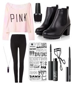 """""""Street style"""" by chlumblr on Polyvore featuring Casetify, J Brand, OPI, NARS Cosmetics, StreetStyle, out and goingout"""