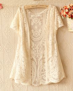 upcycle a lace curtain panel or tablecloth or dress/skirt that had a blemish
