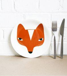 Assiette renard.