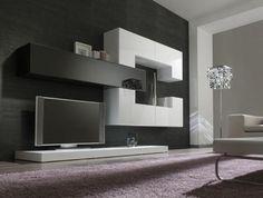:::: Living Room Cabinets, Living Room Tv, Living Room Remodel, Men Home Decor, Modern Wall Units, Tv Wall Decor, Tv Wall Design, Modern Bedroom Design, Space Saving Furniture