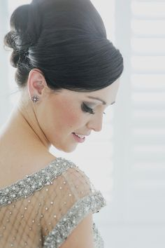 Glamourous bride alert! You have to see her dress, it's a stunner! CJ Williams Photography