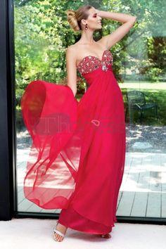 Abiti da Ballo 2013-Piano di lunghezza abiti da ballo rosso tesoro chiffon
