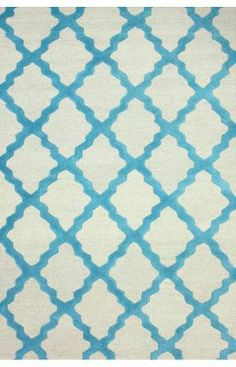 Rugs USA Homespun Moroccan Trellis Turquoise Rug - 8'6''x11'6'' (50% off with coupon code JAN 50)