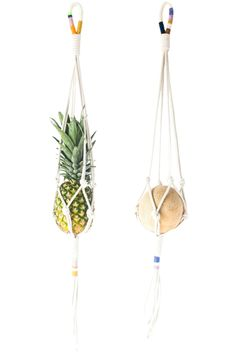 Colorblock Rope Plant Hangers by Cold Picnic
