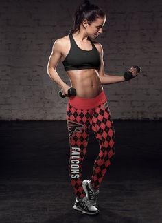 Cool Checkered Patterned Leggings Atlanta Falcons Football Sports Yoga  Pants Online Store for Women Falcons Football d68e640ef