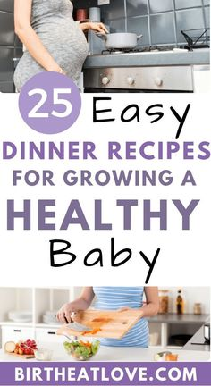 Pregnancy recipes for easy dinners! Want a healthy baby and pregnancy? Trying to figure out how to eat a healthy pregnancy diet? These dinner recipes for pregnancy all have the BEST foods to eat for growing a healthy baby. Healthy Pregnancy Diet, Pregnancy Nutrition, Pregnancy Dinner, Pregnancy Tips, Pregnancy Workout, Food For Pregnancy, Pregnancy Food Recipes, Best Pregnancy Foods, Pregnancy Pants
