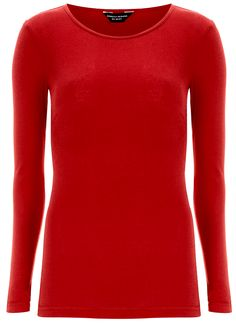 Red long sleeve shirt.