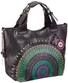 celine handbag outlet - Desigual Bols Valencia Perforate, Sac port�� ��paule - Rose (3063 ...