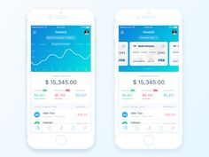 Finance Summary Page by Anatoliy Nesterov