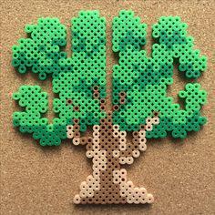 tree by tsubasa.yamashita fuse beads hama beads nabbi beads nano beads perler beads アイロンビーズ 拼豆 拼拼豆豆