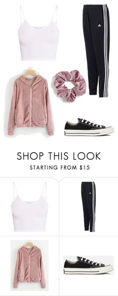 rachel - outfit 8 by electrasweetheart on Polyvore featuring BasicGrey, adidas, Converse and Topshop