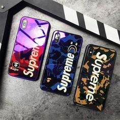 New Supreme Bape Shark Premium Glass Glossy Hard Case For iPhone X 6 7 8 Plus Cell Phone Cases, Iphone Cases, Bape Shark, Iphone 7, Supreme Bape, Window Planter Boxes, Hypebeast Wallpaper, Cell Phone Accessories, Cover