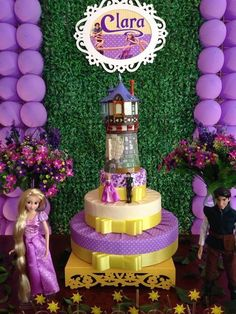 Decoração Provençal Enrolados Rapunzel Rapunzel Birthday Party, Tangled Party, Tinkerbell Party, 40th Birthday Cakes, Third Birthday, Birthday Parties, Rapunzel Disney, Tangled Rapunzel, Bday Girl