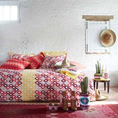 Gekleurde dekbedovertrekken: We love them! #slaapkamer #slapen #bedroom #inrichting
