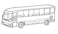 Resultado de imagem para autocarro  colorir
