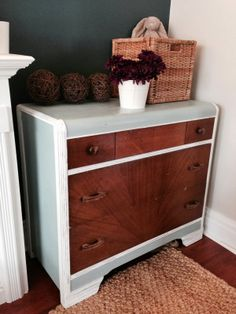 Retro Waterfall Dresser chalk paint