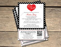 I Love Lucy Bridal Shower Invitation with by TRCustomDesigns, $15.00