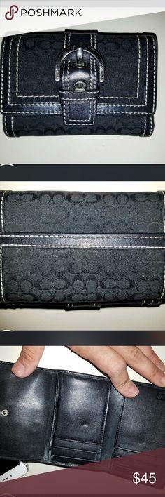 Authentic Coach Tri Fold Wallet Monogram authentic coach tri fold wallet Coach Bags Wallets