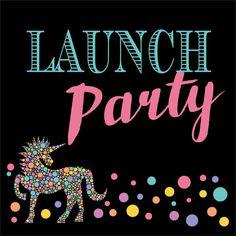 Lularoe Unicorn Launch Party sign looks like chalkboard