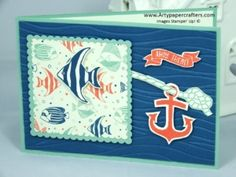 Handmade Seaside Shore Greeting Card Stampin' Up