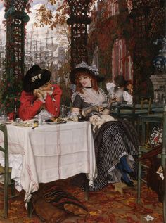 James Jacques Joseph Tissot (1836-1902)  Un Dejeuner  Oil on canvas  c1868