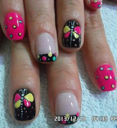 Uñas Funky Nail Designs, Nail Art Designs, Spring Nail Art, Spring Nails, Toe Nail Art, Toe Nails, Ruby Nails, Nail Decorations, Fabulous Nails