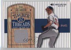 2004 Donruss Timber & Threads #TT-9 Greg Maddux Atlanta Braves Baseball Card 2u3