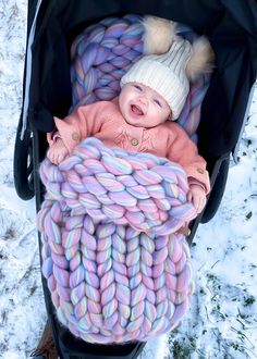 Sweater Knitting Patterns, Arm Knitting, Baby Sleeping Bag Pattern, Baby Nest Pattern, Chunky Babies, Baby Pullover, Chunky Blanket, Nyc, Chunky Wool