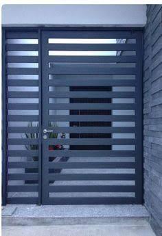 Front Door Grill Design For House Steel Gate Design, Front Gate Design, House Gate Design, Door Gate Design, Wooden Door Design, Main Gate Design, Metal Gate Designs, Metal Gates, Wrought Iron Doors