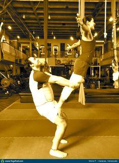 #Yoga Poses Around the World: Partner/Acro Yoga taken in Caracas, Venezuela by Silvia P.