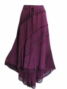 Embroidered Tie-Dye Stonewash Bohemian High & Low Long Skirt (Magenta) Yoga Trendz,http://www.amazon.com/dp/B00HFDIH64/ref=cm_sw_r_pi_dp_3Tmotb0YK02HMECR