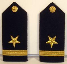 US Navy Naval USN Male Ensign Line Officer Shoulder Boards Bullion Vanguard