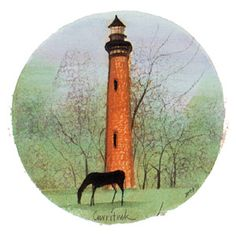 """Currituck"" by P Buckley Moss. issued 2001. Image Size: 5-1/8 x 5-1/8 ins. Rare @ Issue Price: $65."