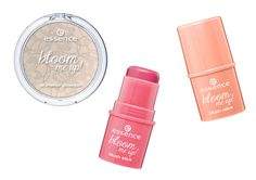 Essence bloom me up Mars 2014 shimmer powder 01 rose it up!, blush stick 01 chaising lacy  02 blooming tender
