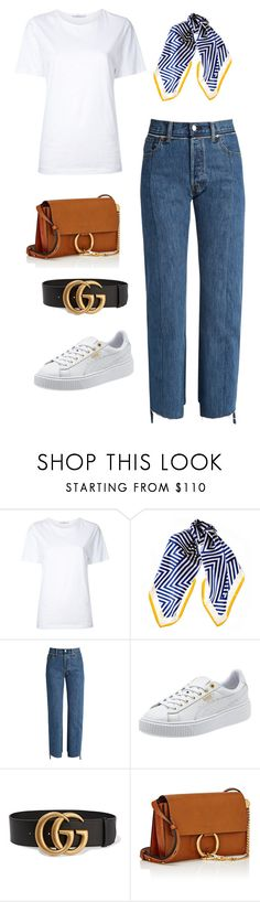 """Casual Sailor"" by ofwfasion on Polyvore featuring Astraet, Black, Vetements, Gucci and Chloé"