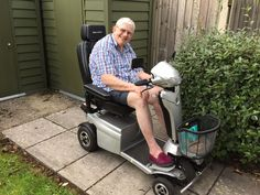Mr Pearce really loved the Vitess 2 mobility scooter get your demo here http://contact.quingoscooters.com/social-mobility-scooters
