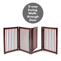 Primetime Petz 360 Configurable Dog Gate with Door - Indoor Freestanding Walk Through Wood Pet Gate * (paid link) Details can be found by clicking on the image.