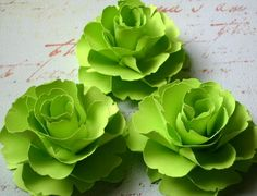 The Lady Flora Handmade Paper Flower - Lime Green - (Set of 10) - Stems NOT included. $20.00, via Etsy.