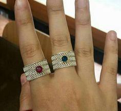 El tejido, puede ser solo o con piedras grandes o pequeñas Filigree Jewelry, Silver Filigree, Sterling Silver Jewelry, Jewelry Rings, Jewelry Accessories, Silver Rings, Jewellery, Pretty Rings, Wire Wrapped Jewelry